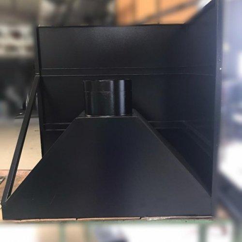 Coifa de Chapa Galvanizada e Pintura Eletrostática com Acabamento em Inox Escovado